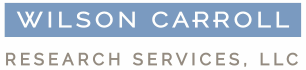 Wilson Carroll Research Services logo